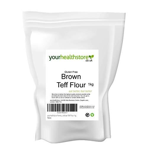 yourhealthstore Premium - Harina de teflón marrón sin gluten, 1 kg