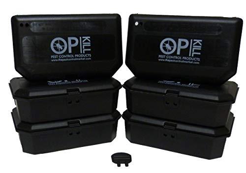 Opkill - Kit insetticida per Topi Color Bronzo, 300 g, Blocchi Professionali da 15 x 20 g e 4 scatole da Esche