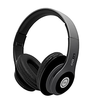 iJoy Matte Finish Premium Rechargeable Wireless Headphones Bluetooth Over Ear Headphones Foldable Headset with Mic  Stealth