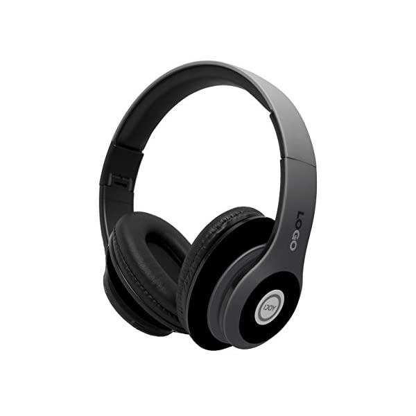 iJoy Matte Finish Premium Rechargeable Wireless Headphones Bluetooth Over Ear Headphones Foldable Headset with Mic…
