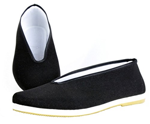 DADAWEN Zapatillas de Artes Marciales de Lona para Hombre, Color Negro, Talla 38 EU