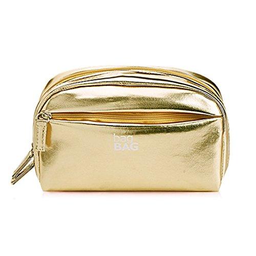 Chang Xiang Ya Shop Sacs cosmétiques portatifs Sacs cosmétiques de Stockage d'organisateur Sacs de Stockage de Jeu de Maquillage boîtes de beauté d'ongle de Maquillage (Color : Gold, Size : Large)