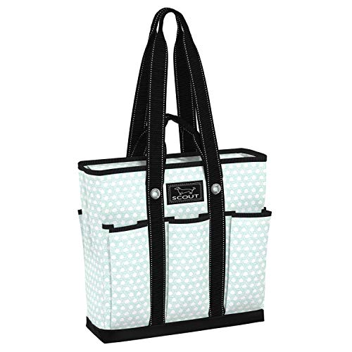 SCOUT Pocket Rocket Tote, Large Tote Bag with 6 Exterior Pockets & Interior Zippered Compartment, Utility Tote Bag for Teachers and Nurses in Off Your Rocker Pattern (Multiple Patterns Available)
