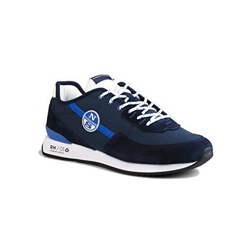 North Sails Recy Navy - Zapatillas deportivas para hombre de tela y ante azul RH01 054 Azul Size: 45 EU
