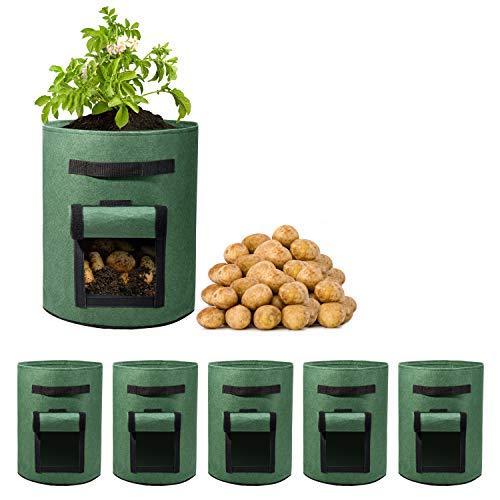 Delxo 5 Pack 7 Gallon Potato Grow Bags...
