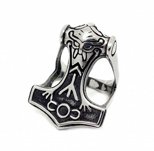Martillo de Thor de Vikingo (en plata) | Anillo tamaño de anillo: 21/11