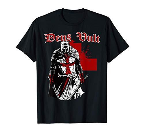 Deus Vult Templer - Ritter Kreuzritter Tempelritter Geschenk T-Shirt