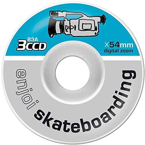 Enjoi VX-54 - Ruote per skateboard, 54 mm, colore: Grigio