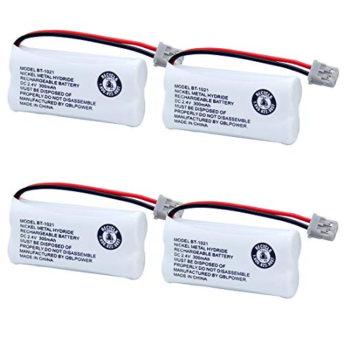 BT-1021 Rechargeable Battery Replacement Compatible with Uniden BT1021 BBTG0798001 BT-1008 BT-1016 Cordless Handset Phone(Pack of 4)