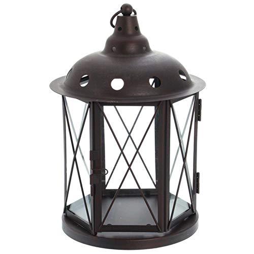 SIDCO Laterne Metall m. Aufhänger Windlicht Wandlaterne Kerzenhalter Lampe Gartenlampe