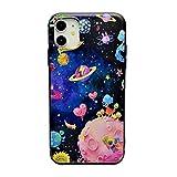 iPhone 11 Pro 3Dデコシリコンケース 宇宙 TPUフレーム (iPhone 11 Pro, 宇宙)
