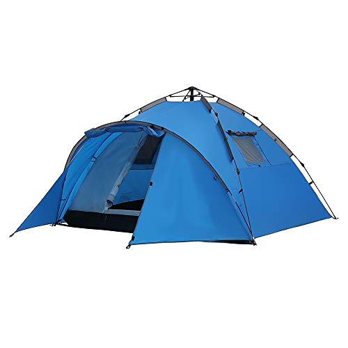 PLEASUR Tentes de Camping en dôme, Tente de Plage Ultralight imperméable Installation Rapide Tente de Pliage Portable pour Voyager en Sac à Dos en Marchant Sports Outdoors Peak, Blue