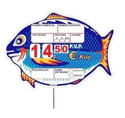 Portaprecios pescaderia, Portaprecios para pescaderia, portaprecio pescaderia, pizarra precios mod. Nemo - 12 ud.