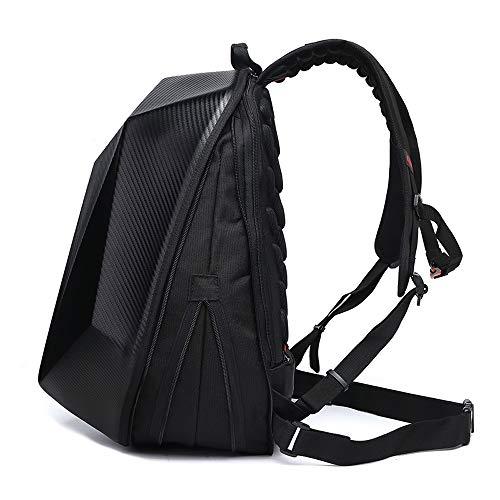 Motorcycle Backpack, Waterproof Hard Shell Backpack, Carbon Fiber Motorbike Helmet Backpack Waterproof Large Capacity Outdoor Travel Motocross Racing Bag (Extra large 2)