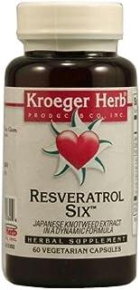 Kroeger Herb Resveratrol Six Herbal, 60 CAPS (Pack of 1)