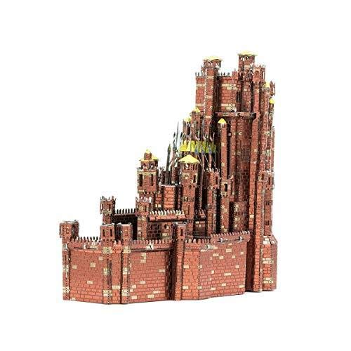 3D Fascinations Metal Earth Puzzle - ICONX Game of Thrones, Red Keep - DIY 3D Model Kit / Metal Jigsaw Puzzle