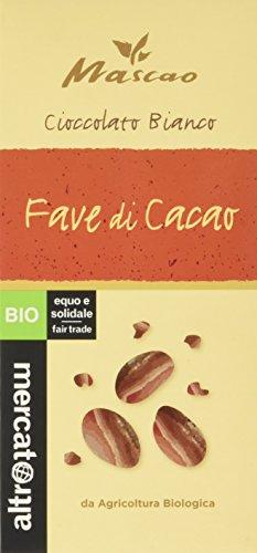 Altromercato Mascao Cioccolato Bianco con Fave di Cacao - 11 Pacchi da 100 g