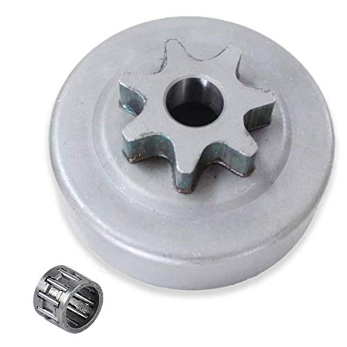 Poweka 325'-7 Clutch Drum Sprocket, Clutch Cover Bearing Compatible with Stihl 017 018 021 023 025 Ms170 Ms180 Ms230 Ms250