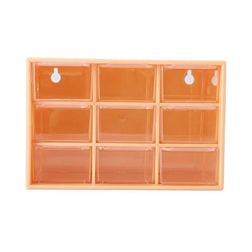Fdit Caja de Almacenamiento de Escritorio múltiple de 9 cajones, Organizador de Almacenamiento de cosméticos y Joyas, Caja de Hardware y gabinete para Manualidades(2#)