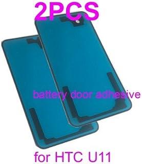 غطاء باب بطارية PHONSUN بديل لاصق ل HTC U11 حزمة من 2