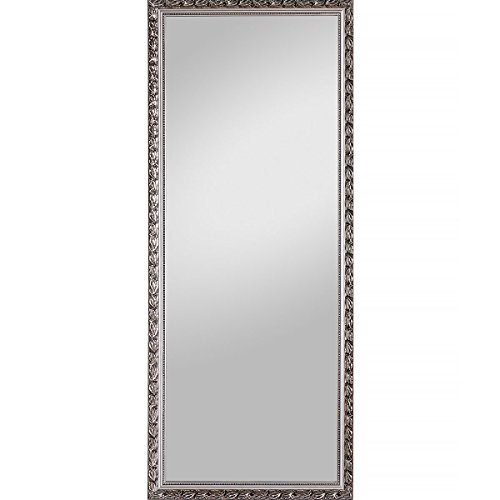 Spiegelprofi Holzrahmenspiegel Pius 70x170cm incl. Aufhänger silbern