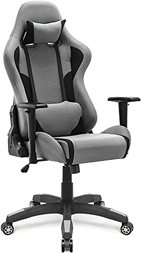 IntimaTe WM Heart Gaming Stuhl, Racing Gamer Stuhl Bürostuhl Stoff, Ergonomischer Computerstuhl, Drehstuhl mit Hoher Rückenlehne