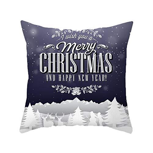ODJOY-FAN Weihnachten Kissenbezug Weihnachtsdeko Black Friday 2020 Weihnachts...