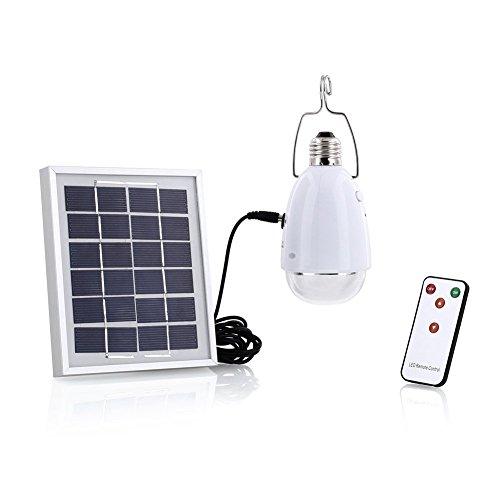 4 en 1 LED Lampe solaire, SUAVER à énergie solaire 12 ampoules Super lumineuses avec télécommande control-solar Grange/Camping/lumière d'urgence pour camping randonnée