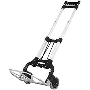 Customer reviews Finether Hand Truck:Folding Trolley Folding Truck Aluminium Alloy Hand Trolley Truck 176.37 lbs Capacity Multi Functional Shopping Trolley Hand Truck and Dolly Folding Storage Cart for Indoors Outdoors Travel Shopping Grocery Storage Office 1 Bungee Cord included Black:Isfreetorrent