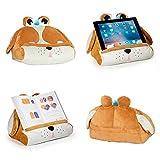 CuddlyReaders, Atril, cojín de Lectura para Libros, iPad, Tablet, eReader, Soporte sofá de Descanso, Idea de Regalo para niños - Modelo Puppy Pete