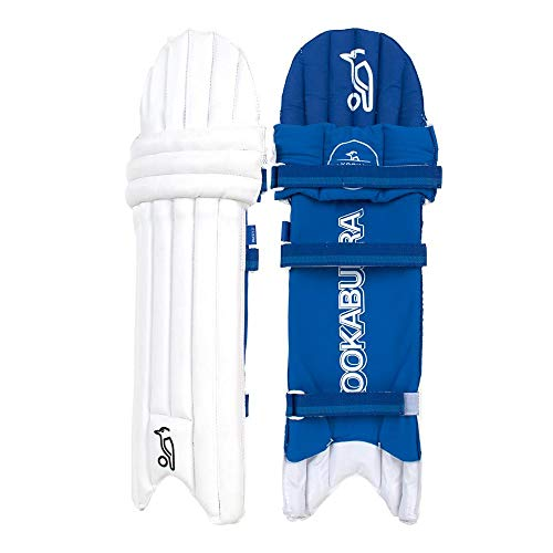KOOKABURRA Boys' 2020 Pace 5.2 Batting Pads Ambi-Junior, White/Blue, Slim Fit