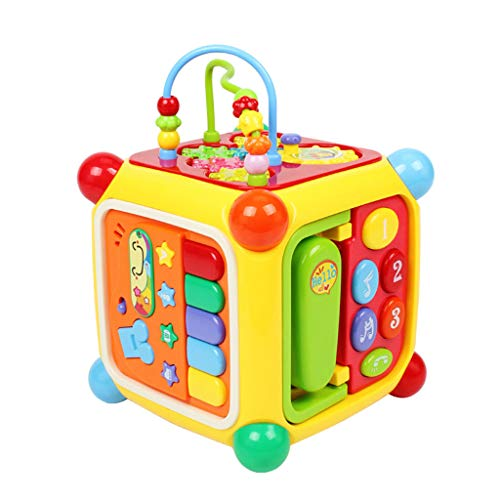 Learning & Education Children's Educational Toys Multi-function Game Table 0-1-3 Years Old Six-sided Entertainment Music Toys Multi-faceted Game Interactive Toys Give Children The Best Gift Early Deve