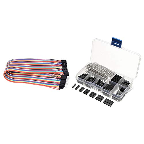Monland 40 Pcs 30cm Male - Female Jumper Wire Cable & 310Pcs 2.54mm Male+Female Wire Jumper and Header Kit