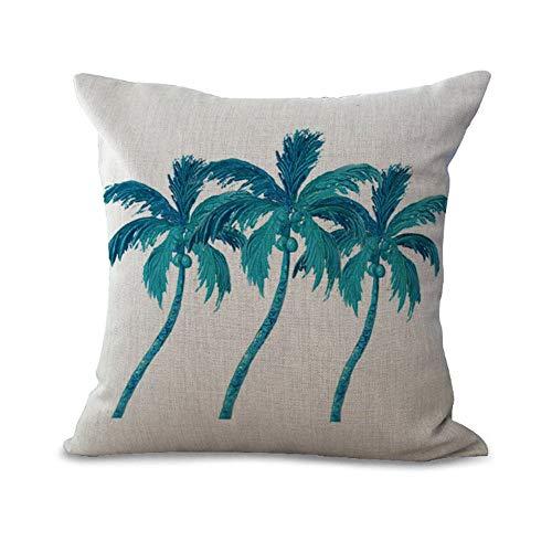 coussin de noix de coco Peinture Tropical Style Couture Bord de mer Plage Vibes Décor coussin en coton 45x 45cm) My-p1047–01