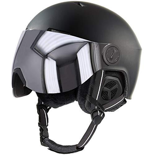 Stuf Snow Visor Skihelm Snowboard Helm mit Visier - 137464-9000 schwarz - Gr. S/M = 54-58 cm