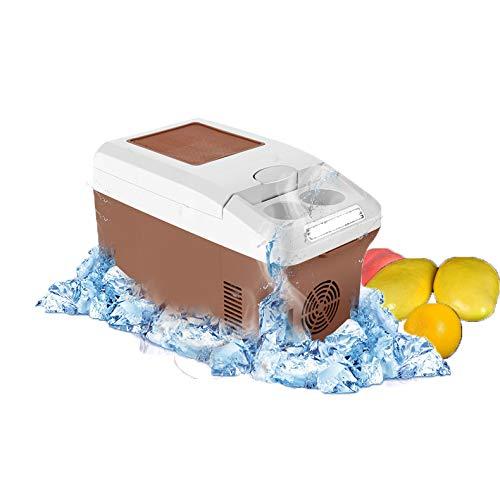 MRXUE Auto Kühlschrank 15L Auto Kleiner Kühlschrank Mit Großer Kapazität Tragbaren Outdoor-Kühlschrank Geräuscharmen Kalter Und Warmer Dual-Use-Mini Elektrisches Appliancescar Boot Home-Office