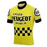 Divertido Ciclismo Jersey Hombres Ciclismo Jersey Francia España Bicicleta Retro Azul Ropa Ciclismo Ropa Racing Ropa...