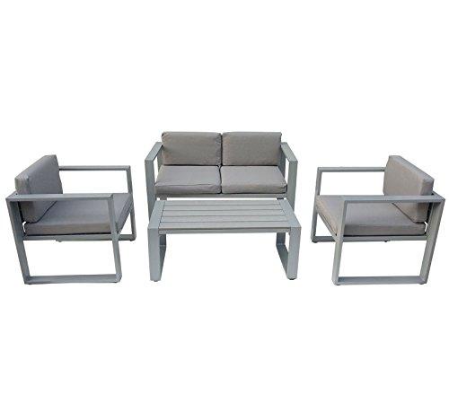 Bentley Garden - Garten-Sitzgarnitur - Tisch + Sofa + 2 Sessel - 4-teilig