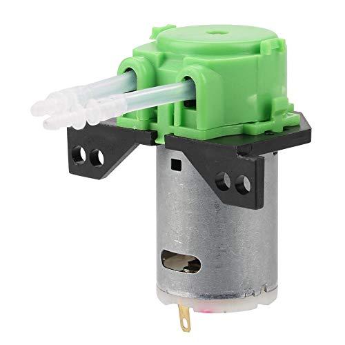 FTVOGUE Pompe péristaltique bricolage Pompe à dosage pour l'analyse chimique en laboratoire d'aquarium (green 12V 2 * 4)