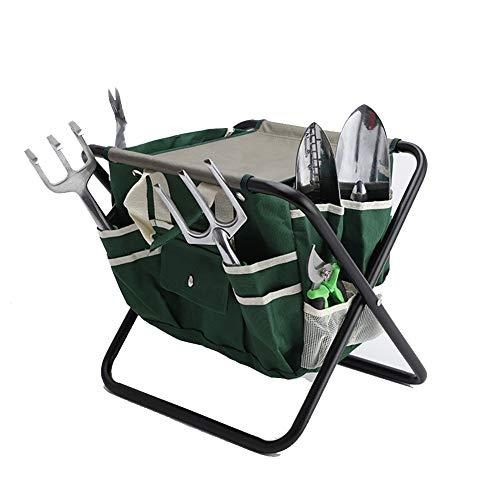 CZX Gartengeräte Hocker Gartenhocker Stuhl Kneeler, Multifunktion mit Tasche Gartenstuhl, Verschleißfest für Campinggarten (ohne Werkzeug)