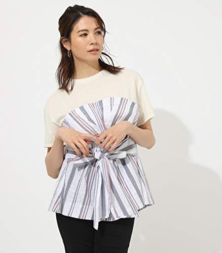 [アズールバイマウジー] tシャツ TWIST COMBI TOPS 250CSH80-365D レディース S ネイビー