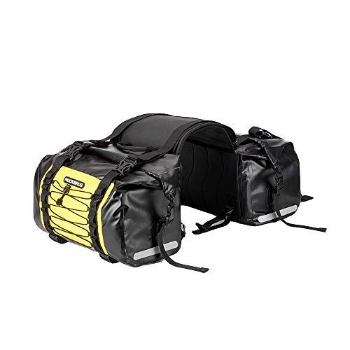 ROCKBROS Motorrad Doppel Satteltaschen Gepäckträgertaschen 100% Wasserdicht Motorradtasche Ca.62L