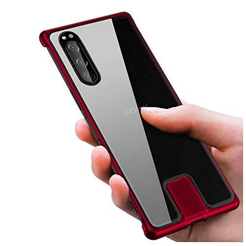 Sony Xperia 5 SO-01M / SOV41ケース カバー アルミ バンパー 強化ガラス 背面パネル付き かっこいい エクスペリア5 えくすぺりあ ファイブ アルミサイドバンパー おしゃれ エキスペリア スマートフォン/スマフォ/スマホケース/