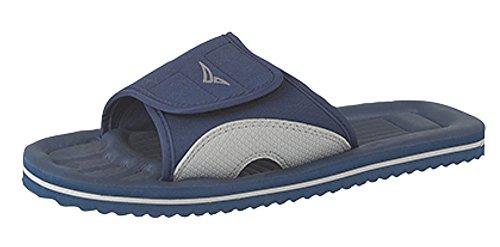 Poolschuhe Badelatschen Unisex Flip-Flops Gr:- 10 UK/EU 44 Farbe:-Blau/Grau
