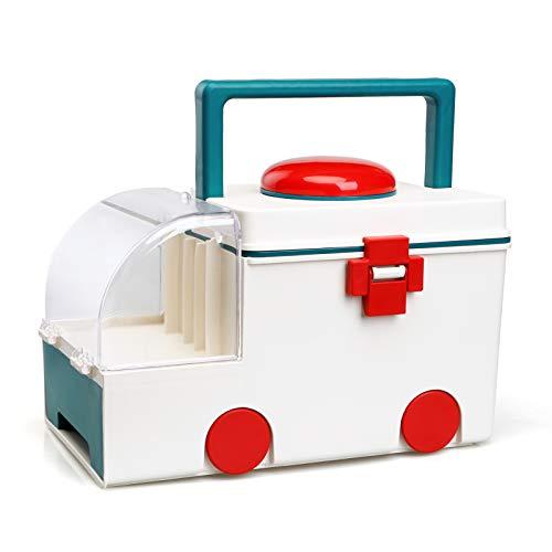 Takarafune 薬箱 救急箱 薬ボックス 薬ケース 救急ボックス コンパクト 応急処置 家庭用 災害用 薬 収納ケース 大容量 救急箱 取っ手付き 収納ボックス