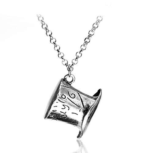 YUNMENG Alice im Wunderland Hut Low Mad Hatter Hut Silber Anhänger Halskette Kragen für Frauen Männer Fans Geschenk