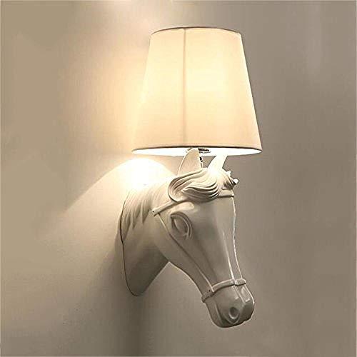 Lampada da parete a LED dopo semplice testata da letto in resina a casa corridoio interno bella decorazione testa di cavallo 5W @ bianco illuminazione