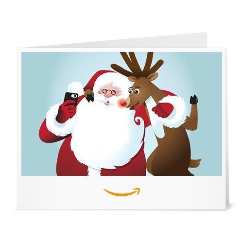 Amazon.de Gutschein zum Drucken (Selfie Santa)