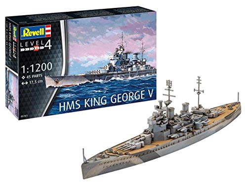 Revell REV-05161 HMS King George V Toys, Mehrfarbig, 1:1200 Scale