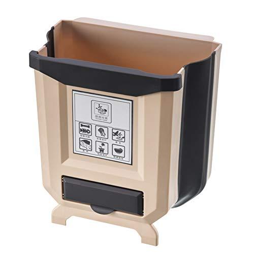 FYBlossom Cubo de basura plegable para cocina, armario, puerta, dormitorio, coche, camping,...